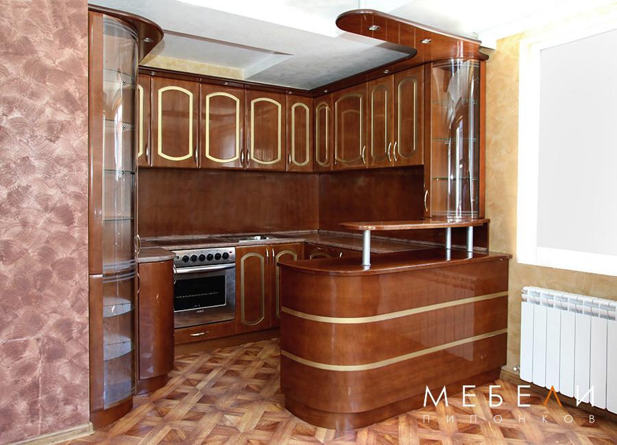 кухня МДФ фурнир